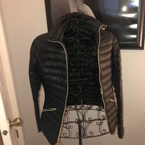 MK Black Puffer Zip Up